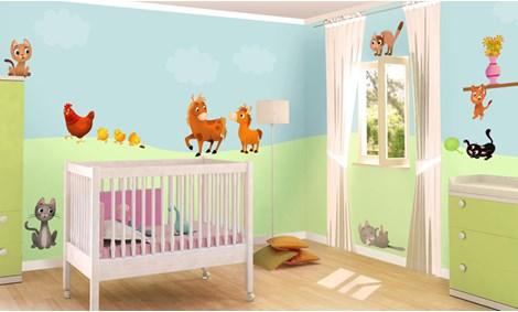 Adesivi murali neonati stickers e decorazioni leostickers - Decorazioni murali per camerette bambini ...
